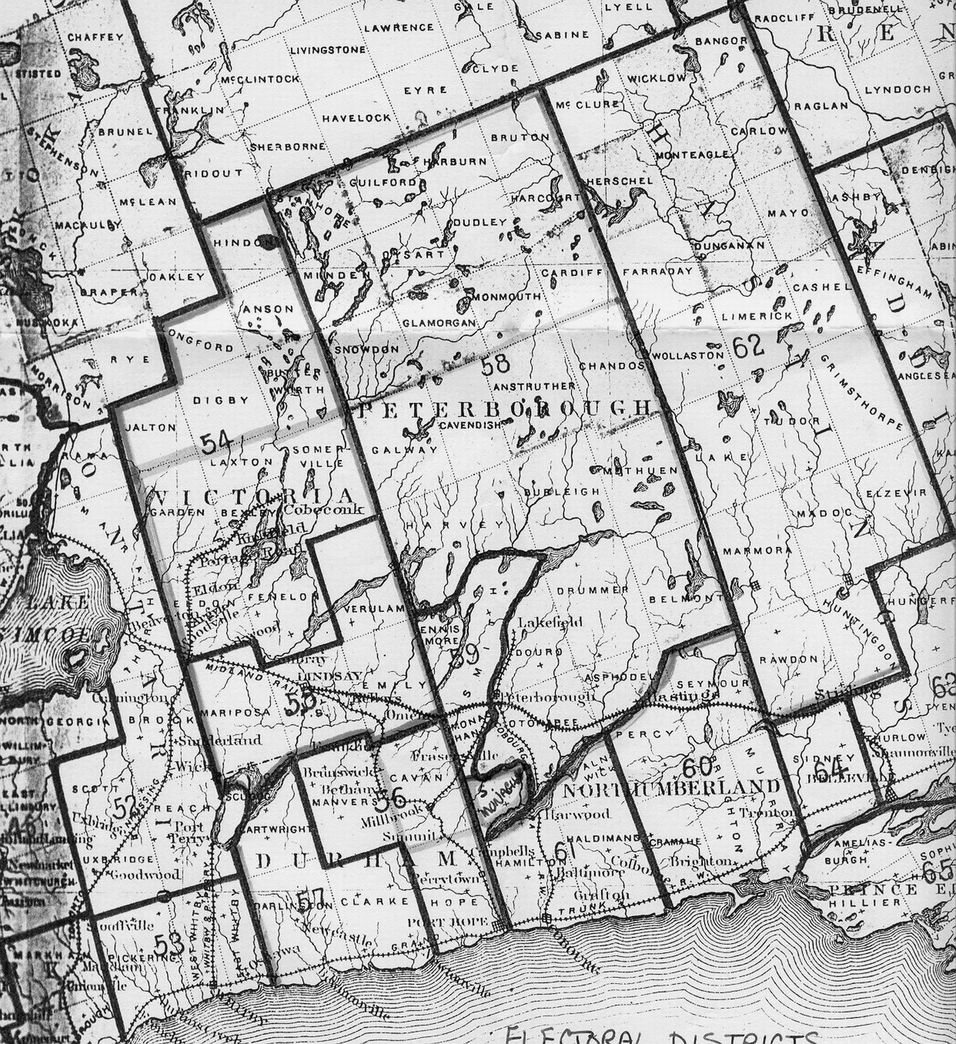 Victoria County Maps - Maps of ontario canada